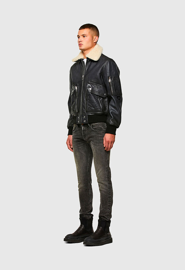 L-STEPHEN, Brown - Leather jackets