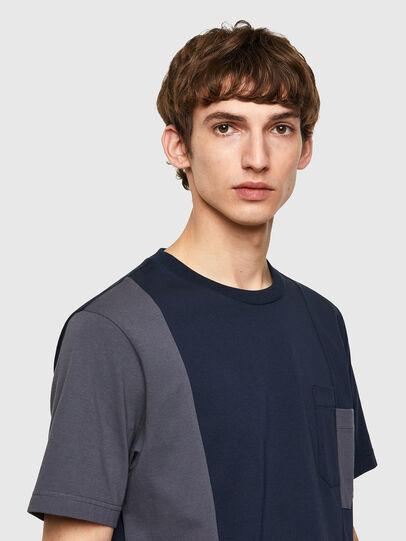Diesel - T-RISEN-B1, Dark Blue - T-Shirts - Image 3