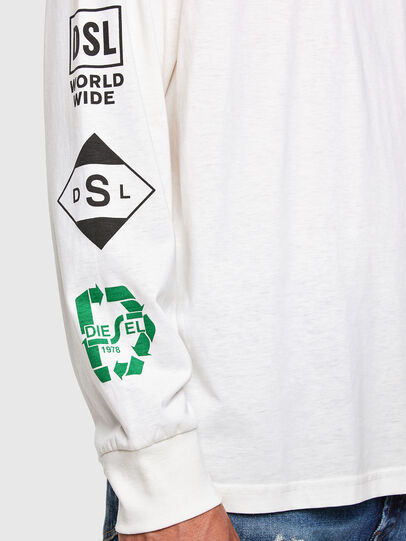 Diesel - T-JUST-LS-N60, White - T-Shirts - Image 3