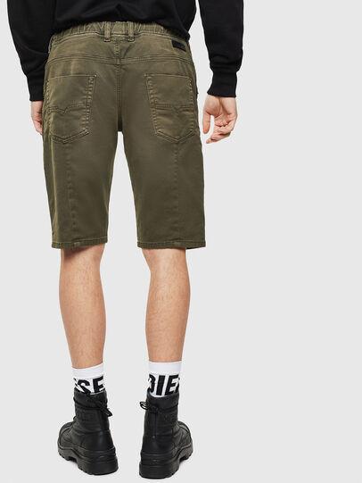 Diesel - D-KROOSHORT JOGGJEANS, Olive Green - Shorts - Image 2