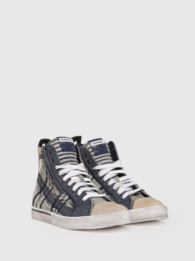 Diesel - D-VELOWS MID LACE, Blue Jeans - Sneakers - Image 2