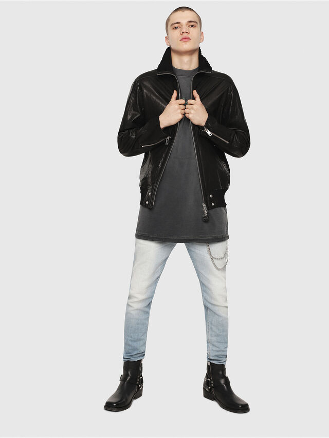 Diesel - L-LYSSEN, Black - Leather jackets - Image 5