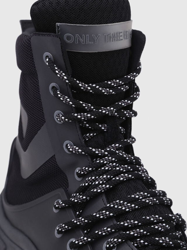 Diesel - S-KIPPER MID LACE, Black - Sneakers - Image 5