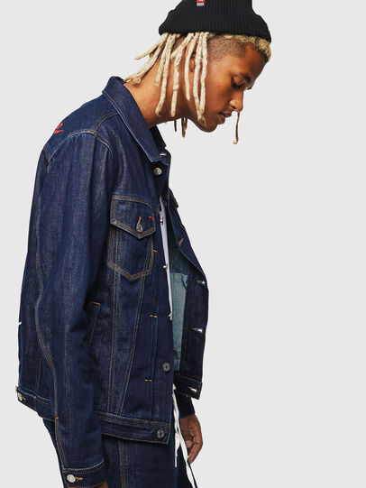 Diesel - CC-NHILL-W, Dark Blue - Denim Jackets - Image 7