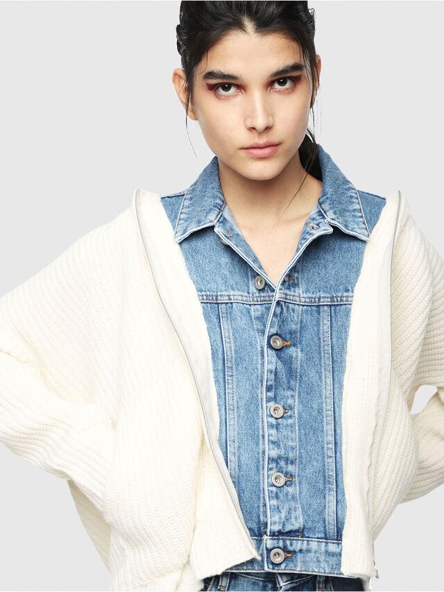 Diesel - M-DOUBLES, Cream - Knitwear - Image 3