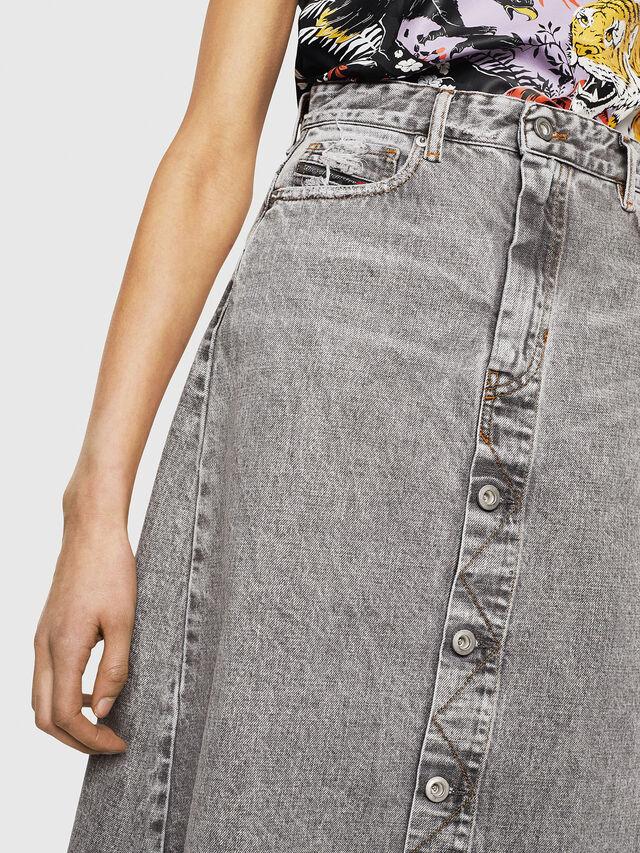 Diesel - DE-MARGY, Light Grey - Skirts - Image 3