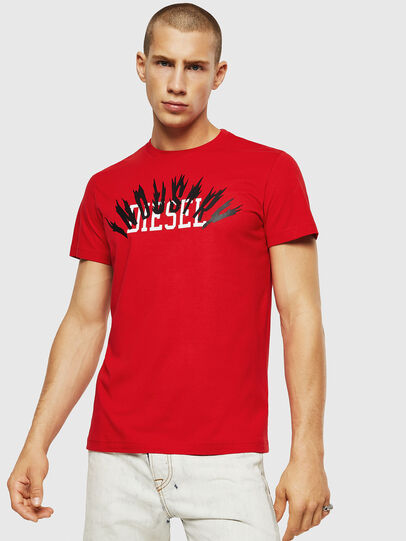 Diesel - T-DIEGO-A10, Fire Red - T-Shirts - Image 1