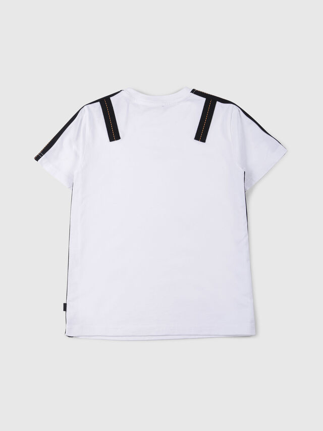 Diesel - TJUSTAPE, White - T-shirts and Tops - Image 2