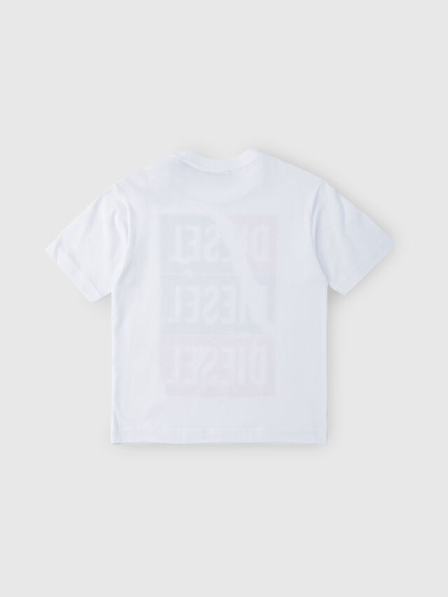 Diesel - TJUSTZC OVER, White - T-shirts and Tops - Image 2