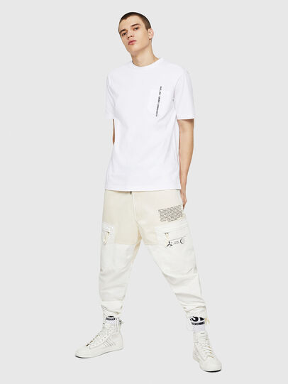 Diesel - T-JUST-POCKET-COPY, White - T-Shirts - Image 5