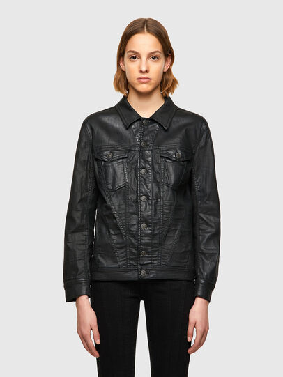 Diesel - D-NALI-SP JOGGJEANS, Black - Denim Jackets - Image 1