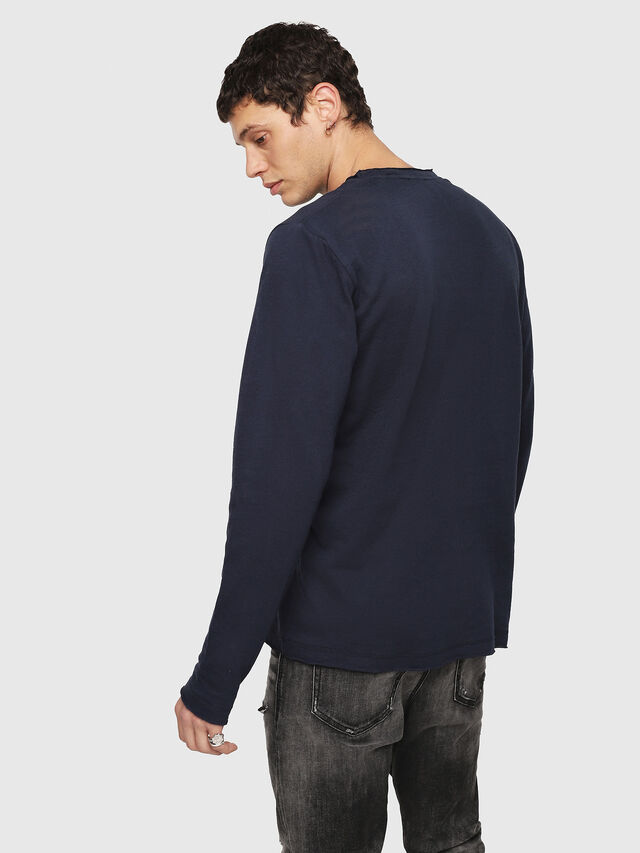 Diesel - T-JUST-LS-ROW, Dark Blue - T-Shirts - Image 2