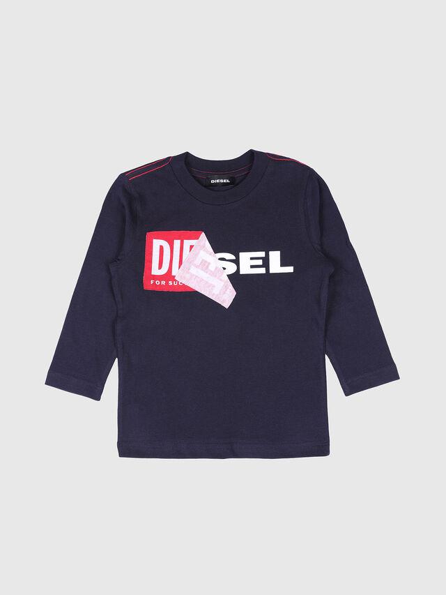 Diesel - TOQUEB-R, Navy Blue - T-shirts and Tops - Image 1