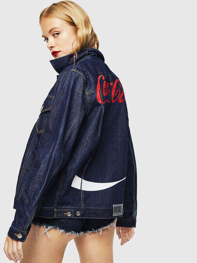Diesel - CC-NHILL-W, Dark Blue - Denim Jackets - Image 4