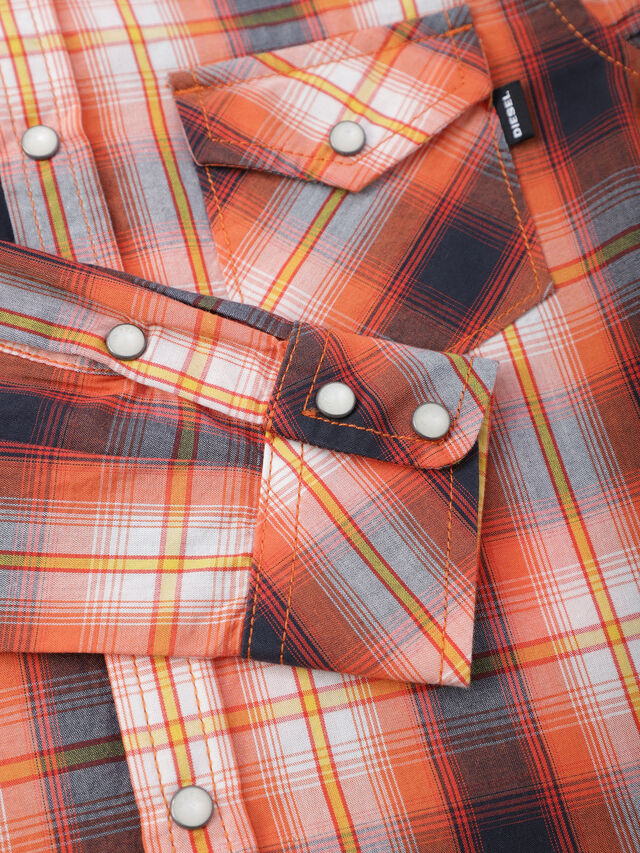 Diesel - CSEASTX, Orange/White - Shirts - Image 3