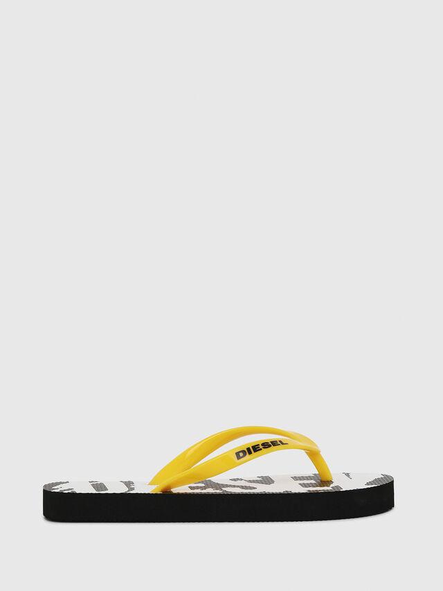 Diesel - FF 22 FLIPPER YO, Black/White - Footwear - Image 1