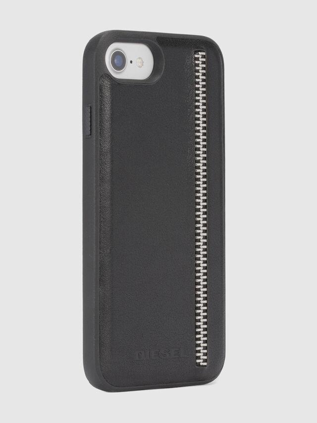 Diesel - ZIP BLACK LEATHER IPHONE 8 PLUS/7 PLUS/6s PLUS/6 PLUS CASE, Black - Cases - Image 5