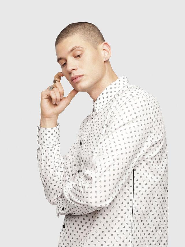 Diesel - S-JIROU, White/Black - Shirts - Image 3