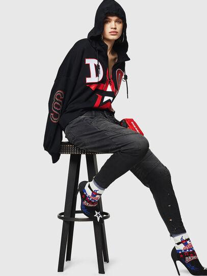 Diesel - Fayza JoggJeans 069GN, Black/Dark grey - Jeans - Image 4