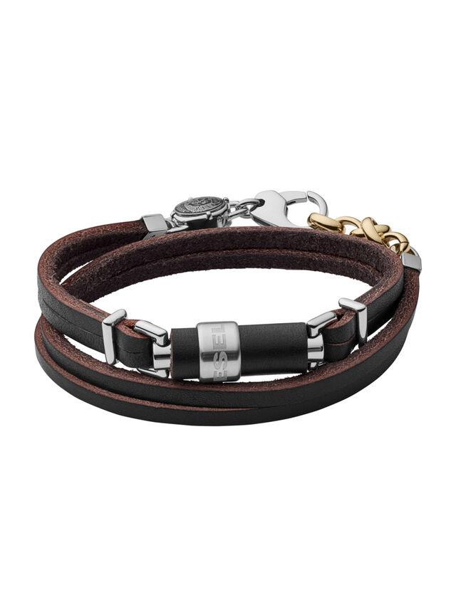 BRACELET DX1082, Black leather