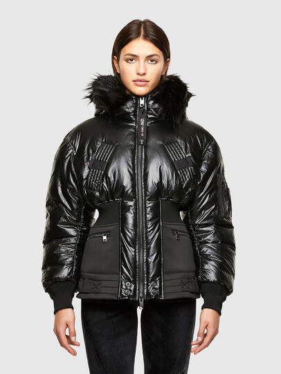 Diesel - W-ISOKE-SHINY, Black - Winter Jackets - Image 1