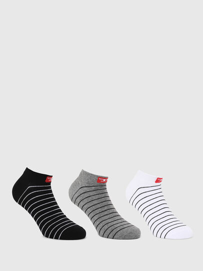 Diesel - SKM-GOST-THREEPACK, Black/White - Socks - Image 1