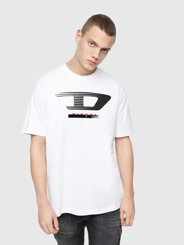 Diesel - T-JUST-Y4, White - T-Shirts - Image 1
