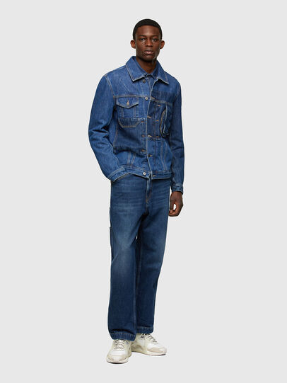 Diesel - D-COSNIL, Medium blue - Denim Jackets - Image 6