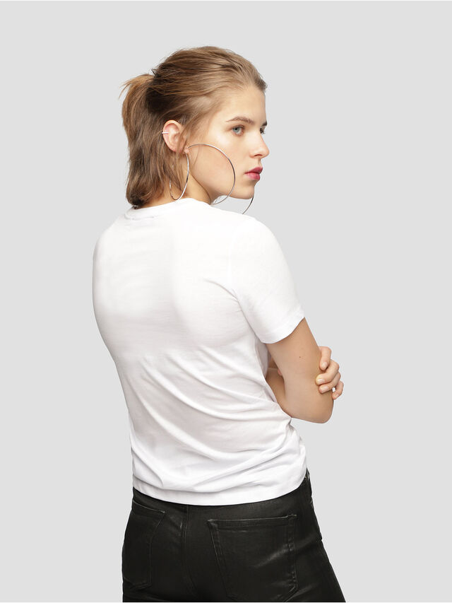 Diesel - T-SILY-WH, White - T-Shirts - Image 2