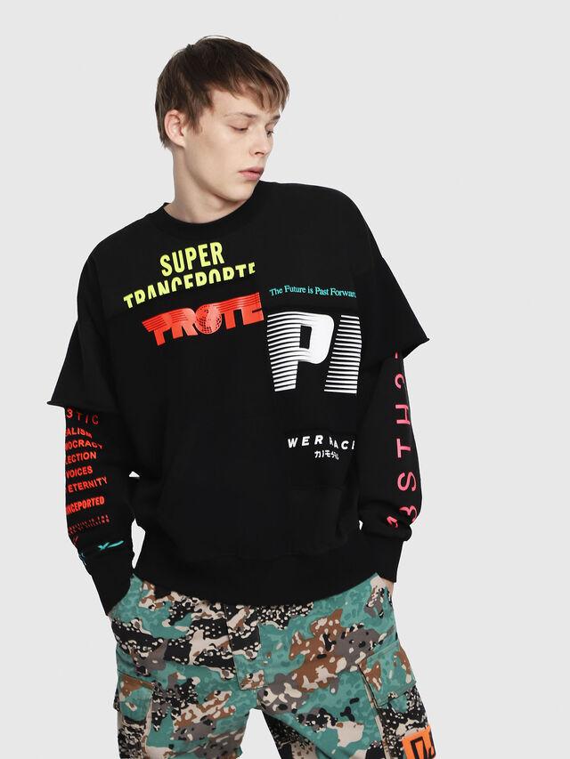 Diesel - S-TAKEO, Multicolor/Black - Sweaters - Image 1