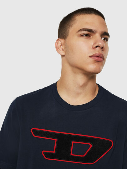 Diesel - T-JUST-DIVISION-D, Dark Blue - T-Shirts - Image 3