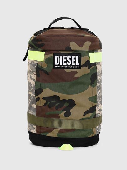 Diesel - PIEVE, Green Camouflage - Backpacks - Image 1