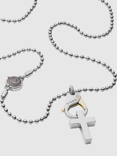 Diesel - DX1149, Silver/White - Necklaces - Image 2