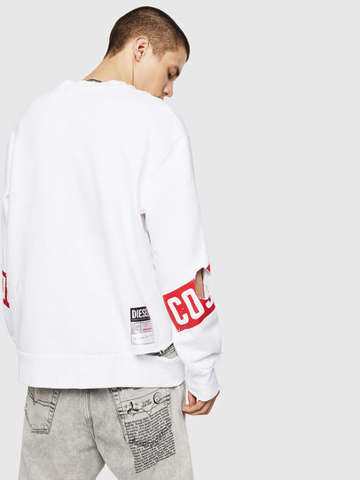 Diesel - S-BAY-HOLES, White/Red - Sweaters - Image 2