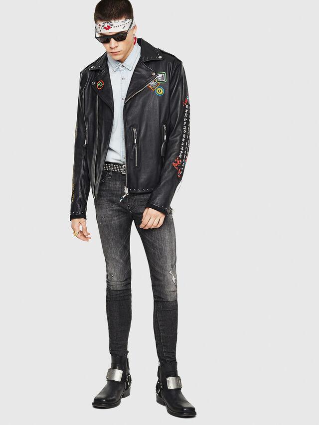 Diesel - L-JUNER, Black - Leather jackets - Image 5