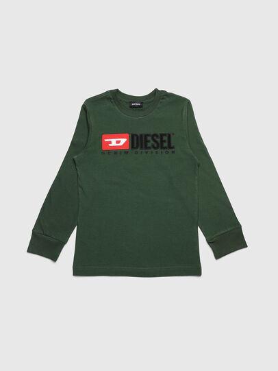 Diesel - TJUSTDIVISION ML, Dark Green - T-shirts and Tops - Image 1