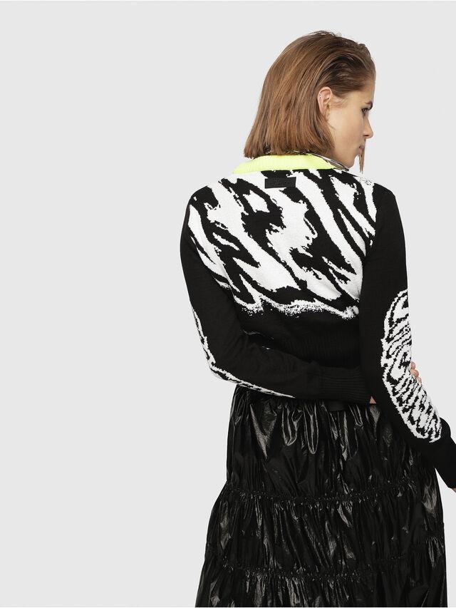 Diesel - M-SCOT, Black/White - Knitwear - Image 2