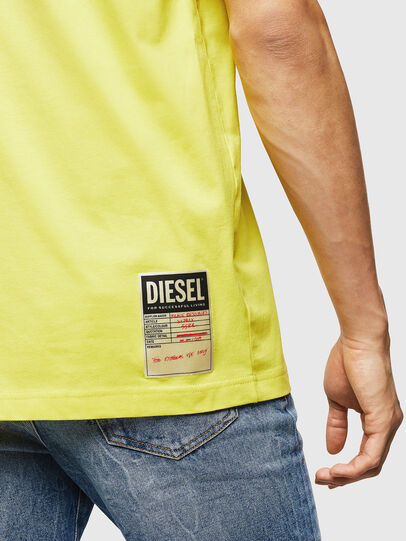 Diesel - T-JUST-B23, Yellow - T-Shirts - Image 4