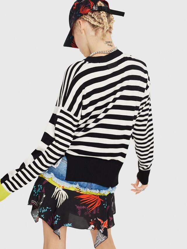 Diesel - M-LISY, Black/White - Knitwear - Image 2