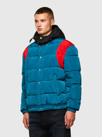 Diesel - W-HEROESY, Blue/Brown - Winter Jackets - Image 3