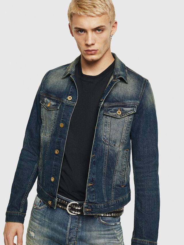 Diesel - D-GALY, Dark Blue - Denim Jackets - Image 1