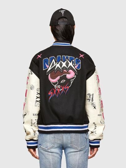 Diesel - CL-L-COHEN-O, Black - Leather jackets - Image 4
