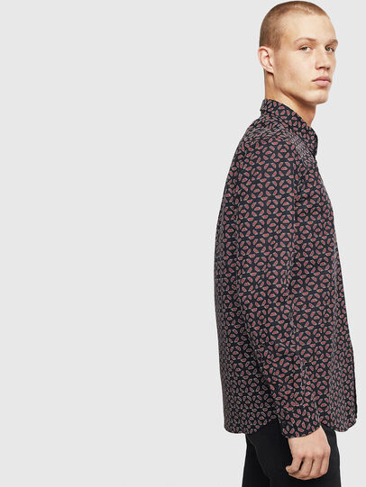 Diesel - S-CLES-D, Black/Red - Shirts - Image 5