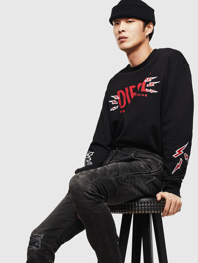 Diesel - CL-SNOR-LITMA, Black - Sweaters - Image 6