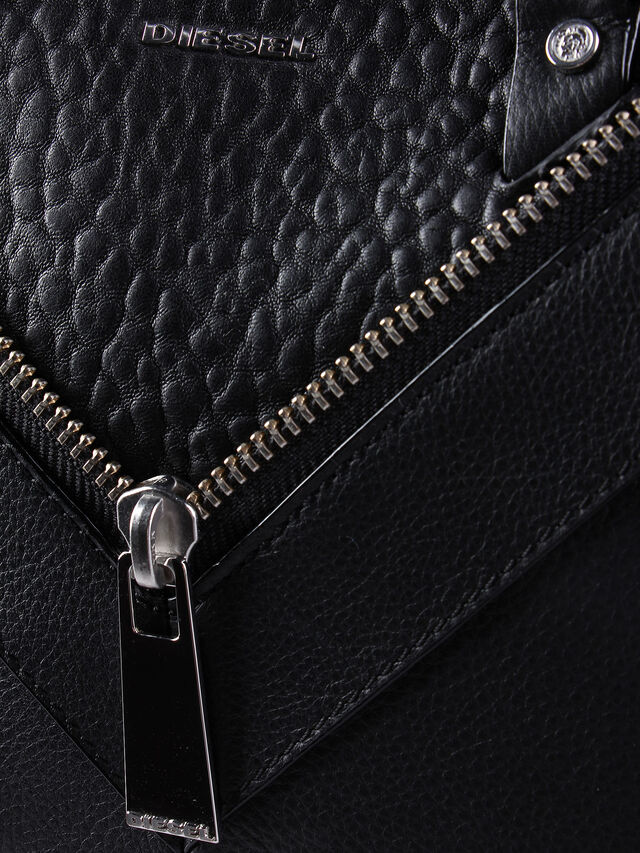 Diesel - LE-TRASY, Black Leather - Satchels and Handbags - Image 5