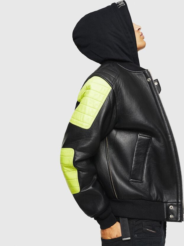L-BRANDO, Black - Leather jackets