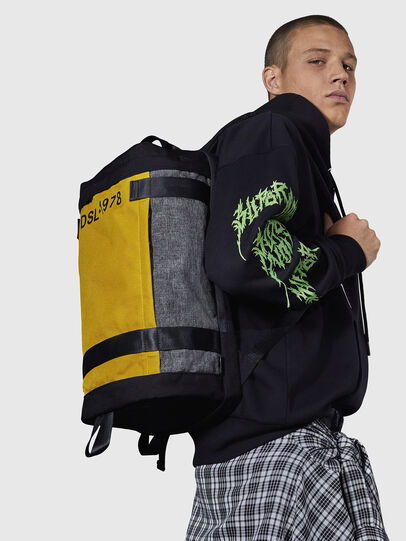 Diesel - PIEVE, Black/Yellow - Backpacks - Image 7