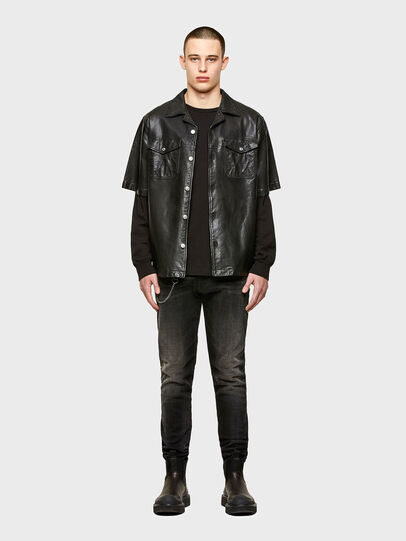 Diesel - S-WOLF-L, Black - Leather jackets - Image 4