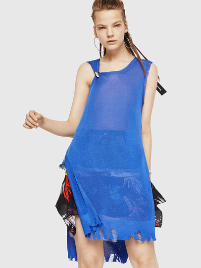 Diesel - M-LONG, Light Blue - Knitwear - Image 1