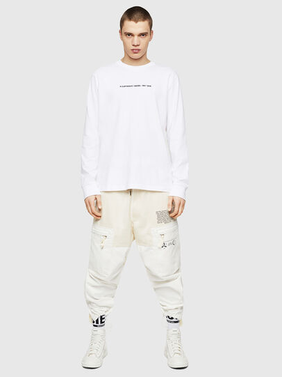 Diesel - T-JUST-LS-COPY, White - T-Shirts - Image 5